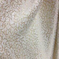 Портьерная ткань белая с золотой нитью купить