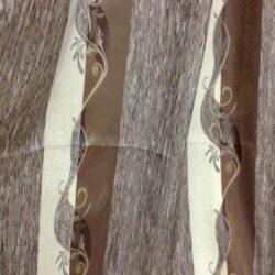 Портьерная ткань с рисунком коричневая купить