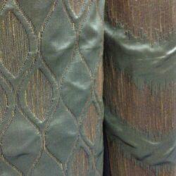 Компаньоны портьерная ткань 3-Д зелёная