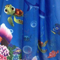 Компаньоны детская портьерная и вуаль с морским рисунком