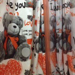 Компаньоны детские портьерная и вуаль с печатью Мишка Тедди