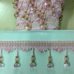 117319 бахрома с с бисером розовая 149р.